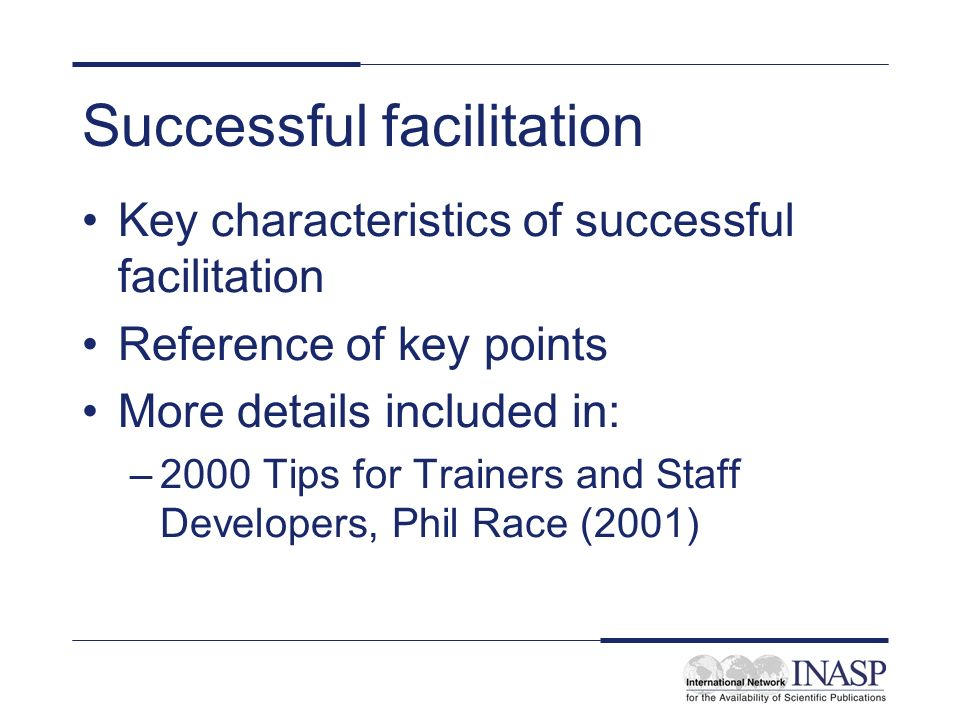 Successful facilitation