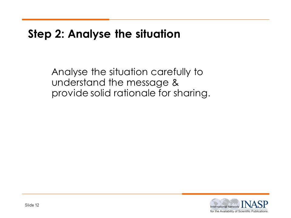Step 2: Analyse the situation