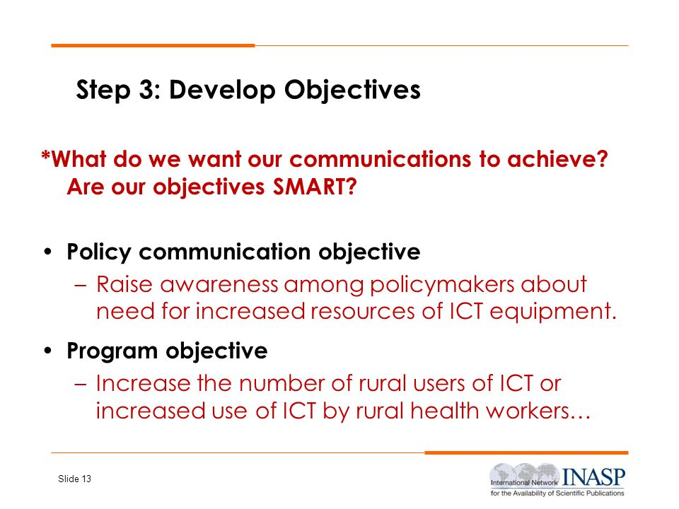 Step 3: Develop Objectives