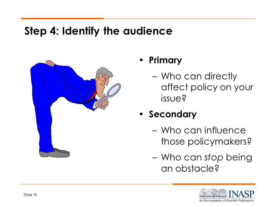 Step 4: Identify the audience