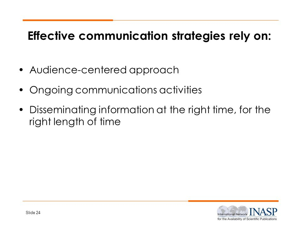 Effective communication strategies rely on: