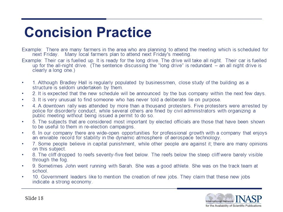 Concision Practice