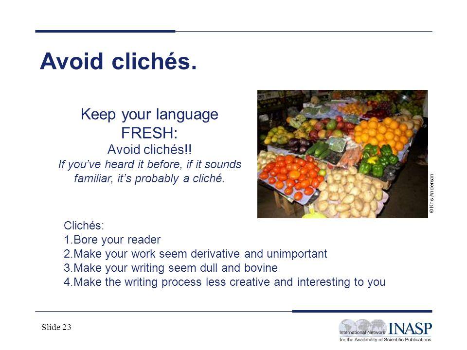 Keep your language FRESH: