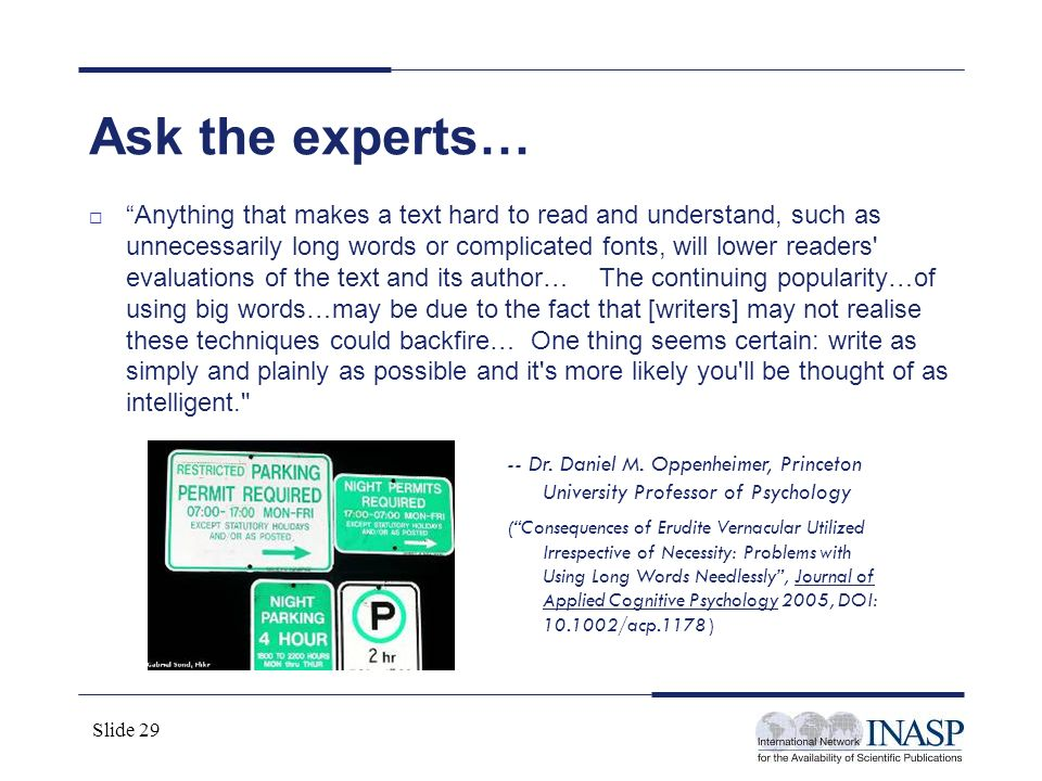 Ask the experts…