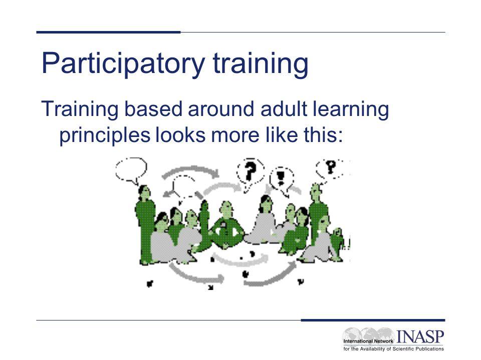 Participatory training