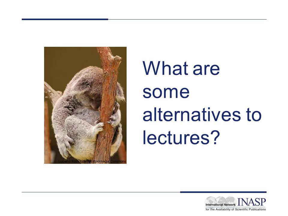 What are some alternatives to lectures