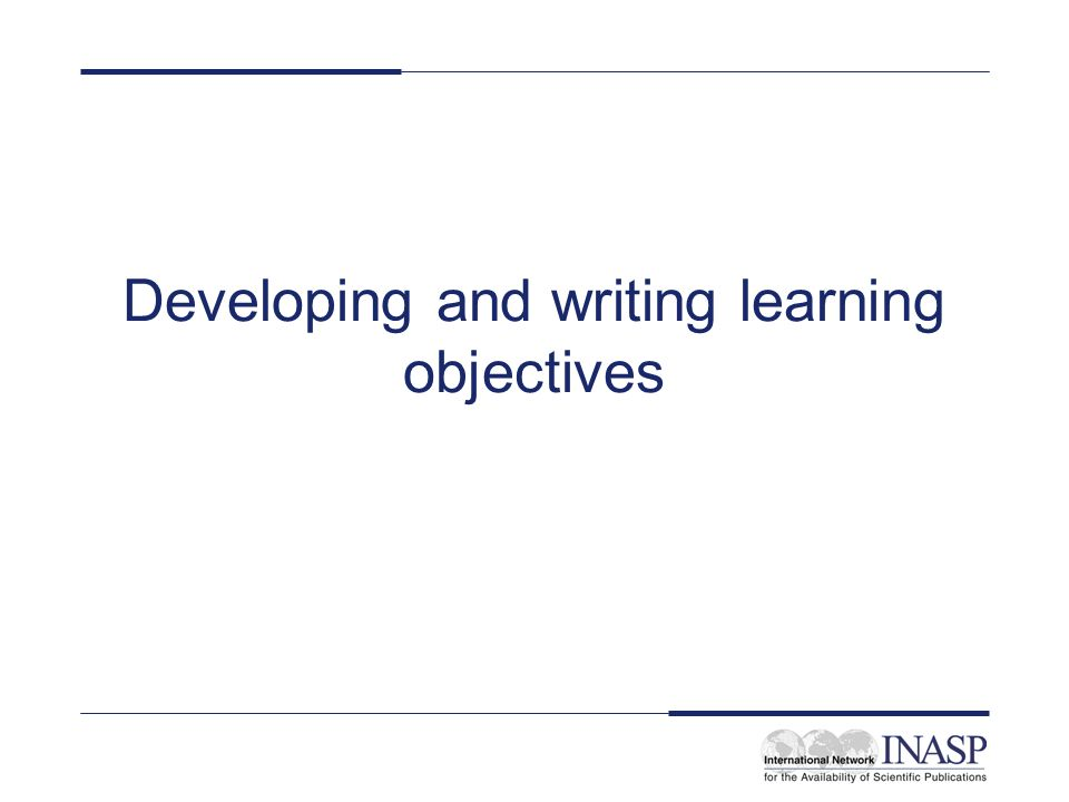 Creative Writing Learning Objectives –