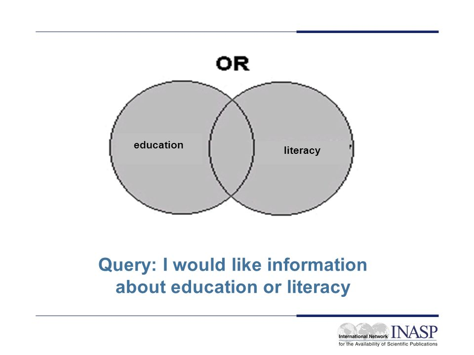 Query: I would like information about education or literacy