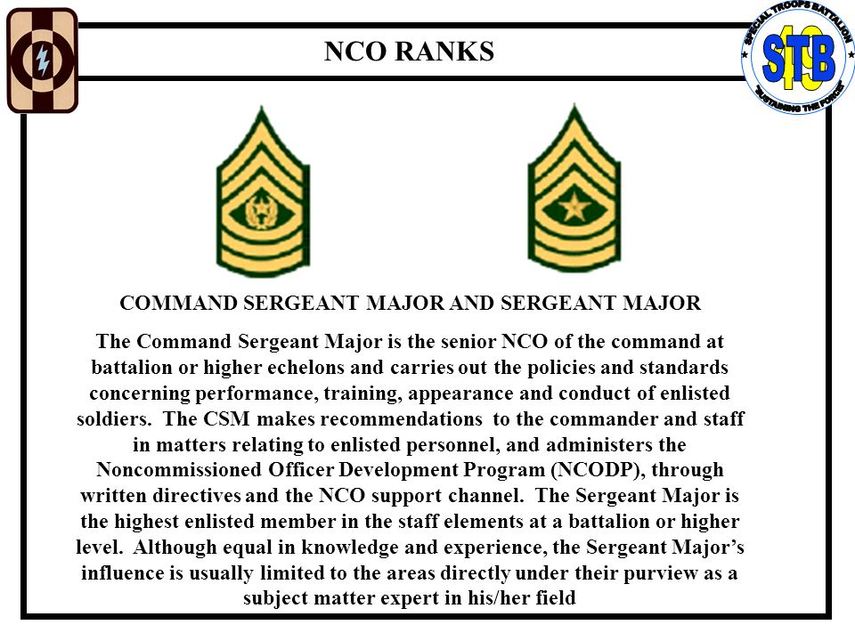 importance of the rank ssgt Revolutionary war times, when the importance of non-commissioned officers to  the  the rank of sergeant major, the highest rank attainable for an nco in the.