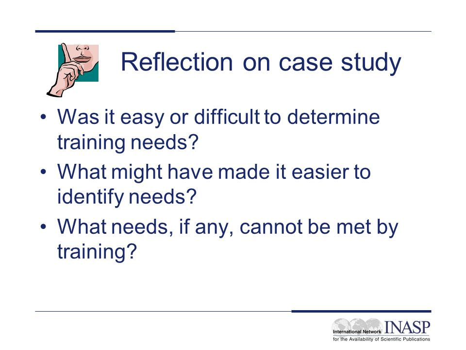 Reflection on case study