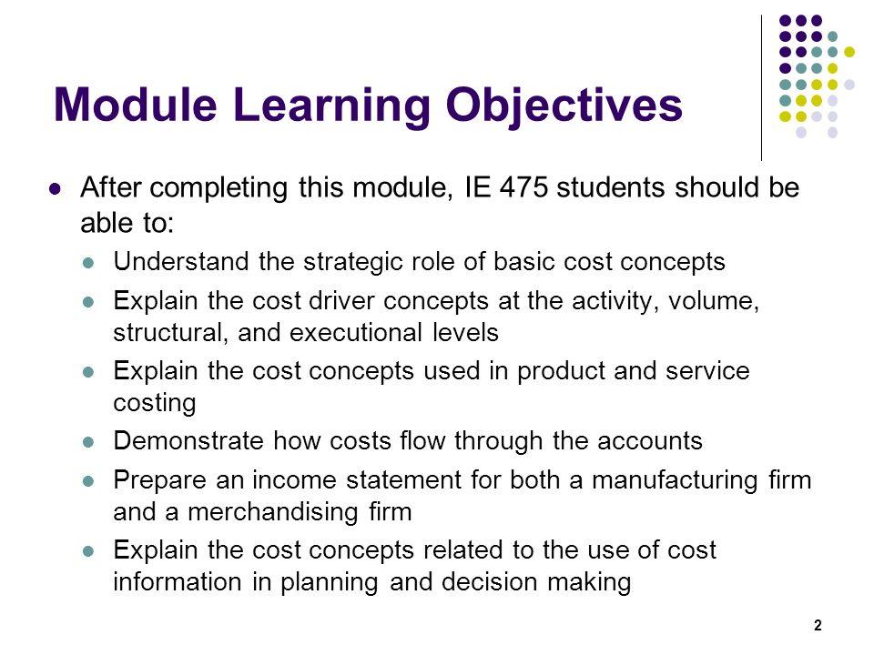 Module Learning Objectives