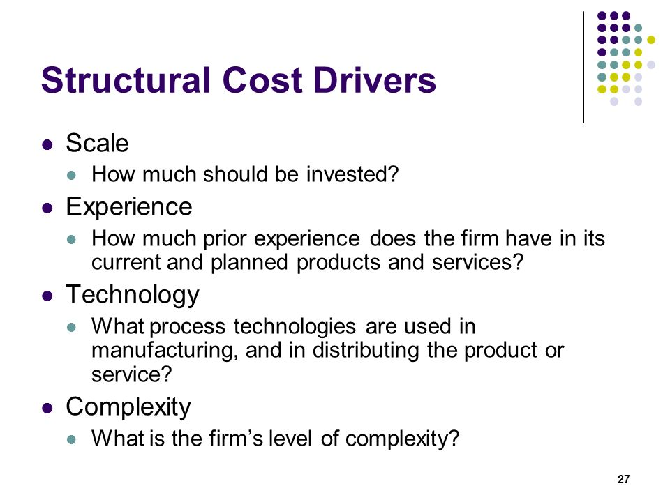 Structural Cost Drivers