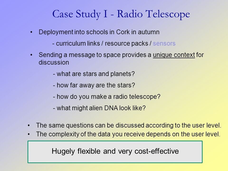 Case Study I - Radio Telescope