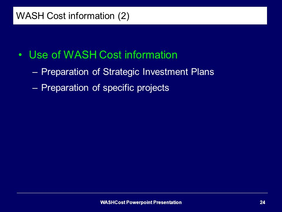 WASH Cost information (2)