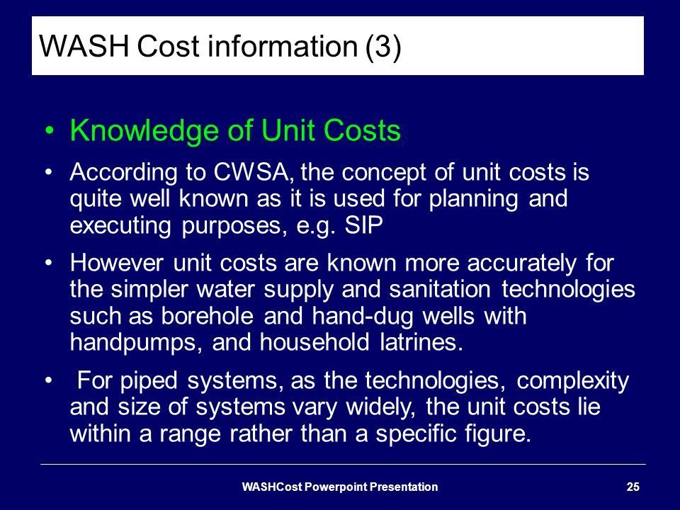 WASH Cost information (3)
