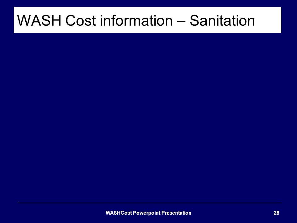 WASH Cost information – Sanitation