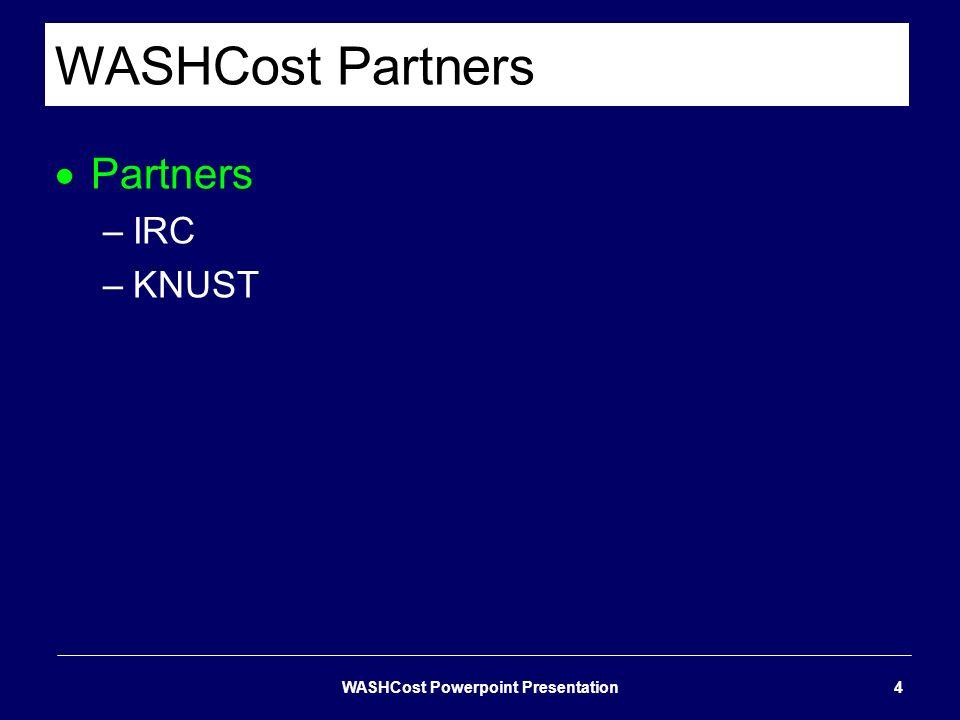 WASHCost Powerpoint Presentation