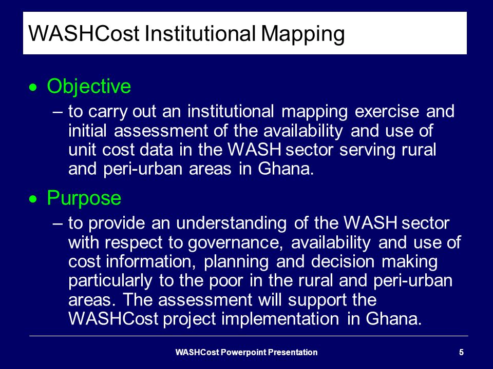 WASHCost Institutional Mapping