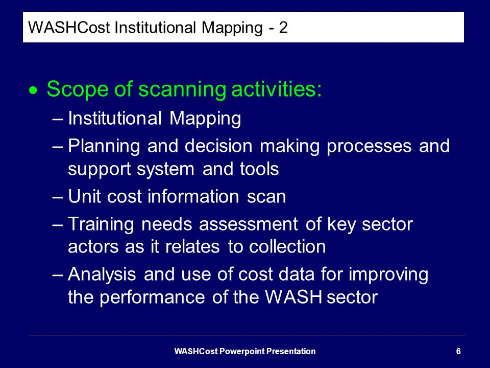 WASHCost Institutional Mapping - 2