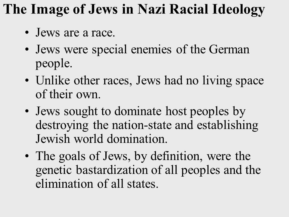 the nazi war against jews and other lesser races Hitler described humans as members of races doomed to eternal and bloody  struggle  nature demanded that the higher races overmaster and starve the  lower  that preserved the lives of jews and others during the war.