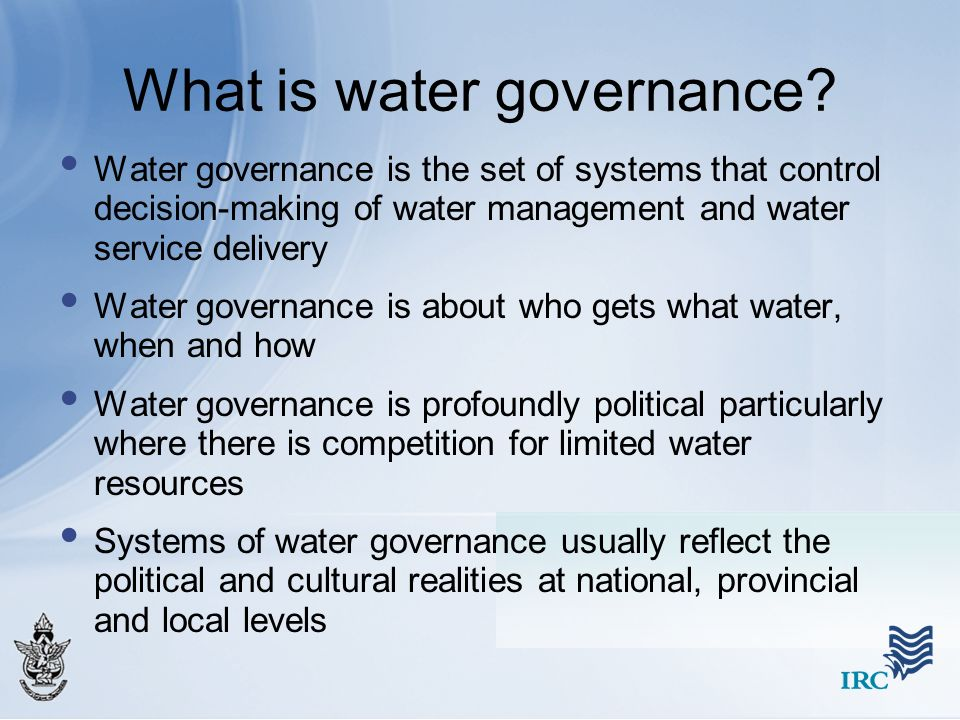 What is water governance