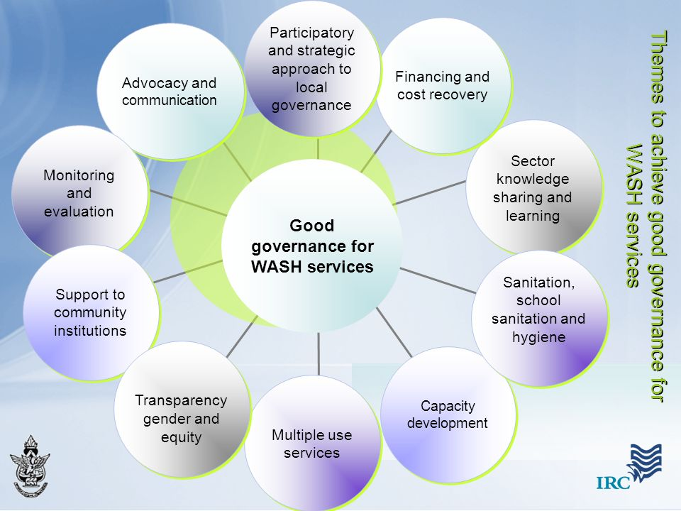 Themes to achieve good governance for WASH services