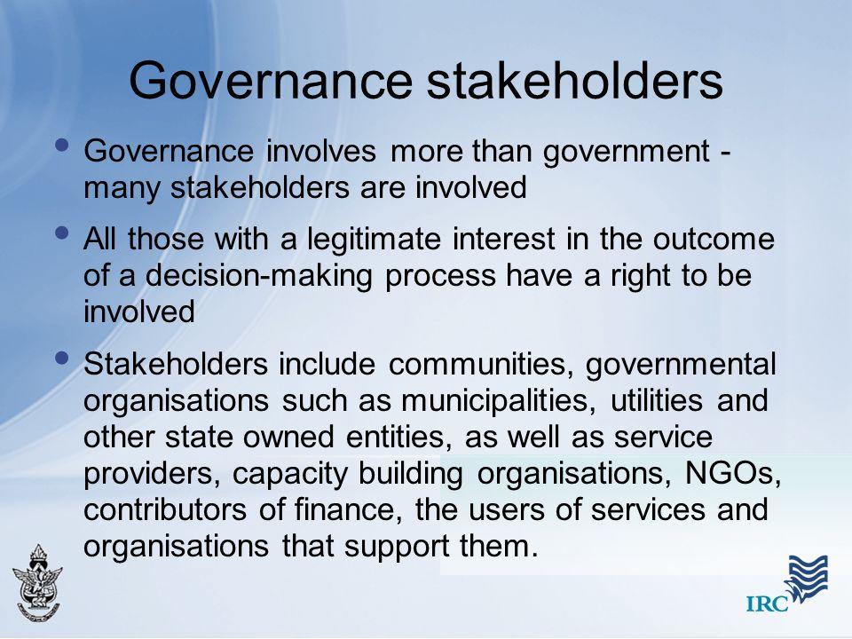 Governance stakeholders
