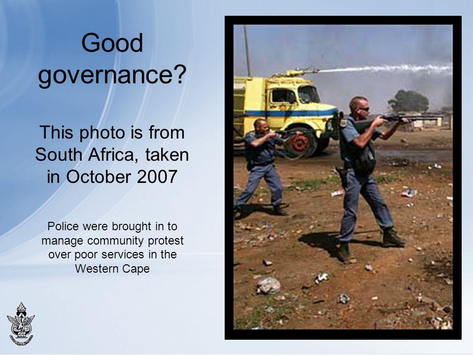 Good governance.