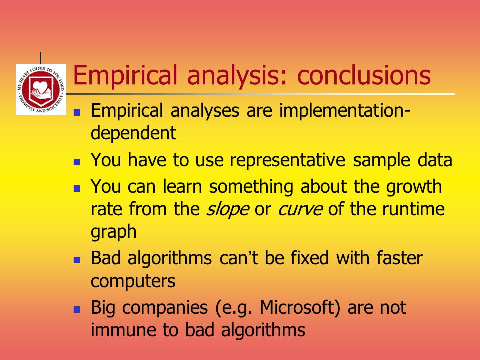Empirical analysis: conclusions