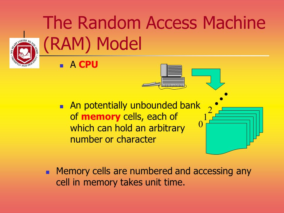 The Random Access Machine (RAM) Model