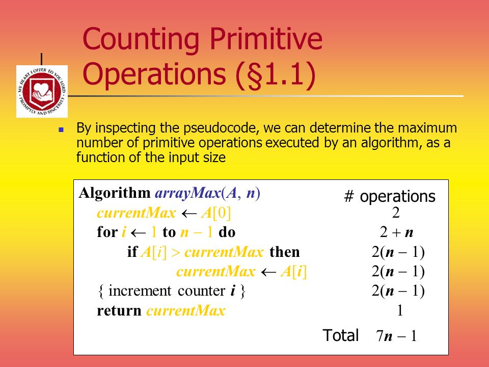 Counting Primitive Operations (§1.1)