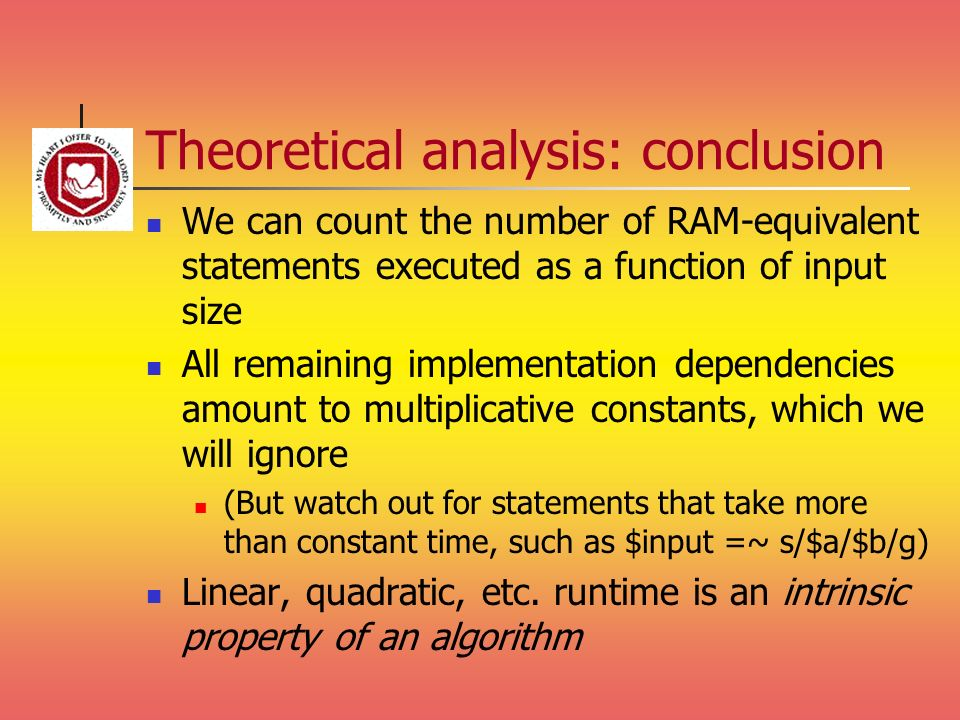 Theoretical analysis: conclusion