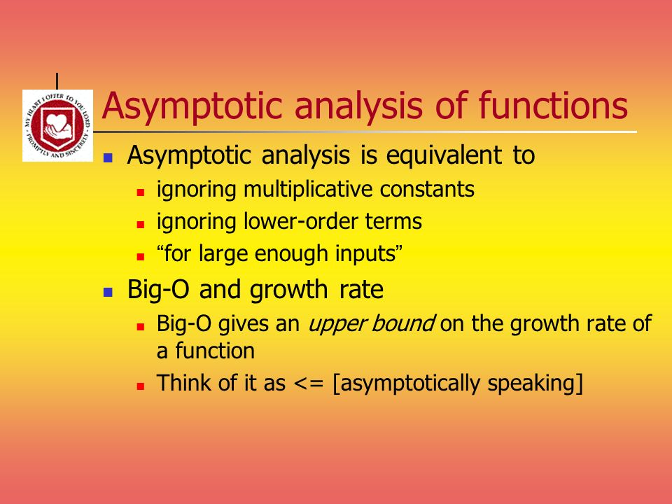 Asymptotic analysis of functions