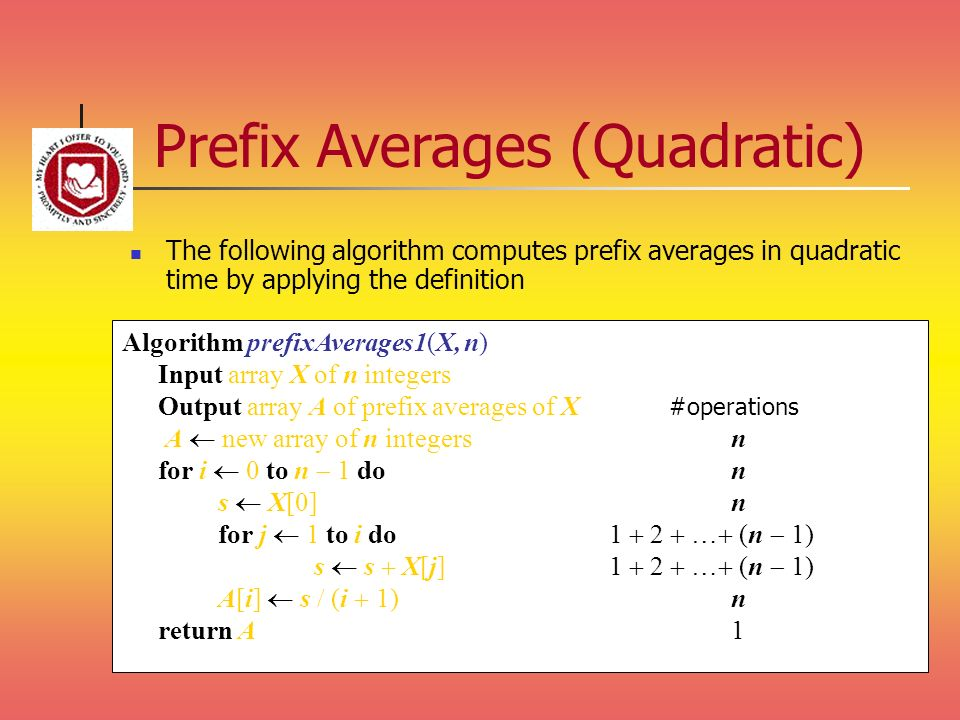 Prefix Averages (Quadratic)