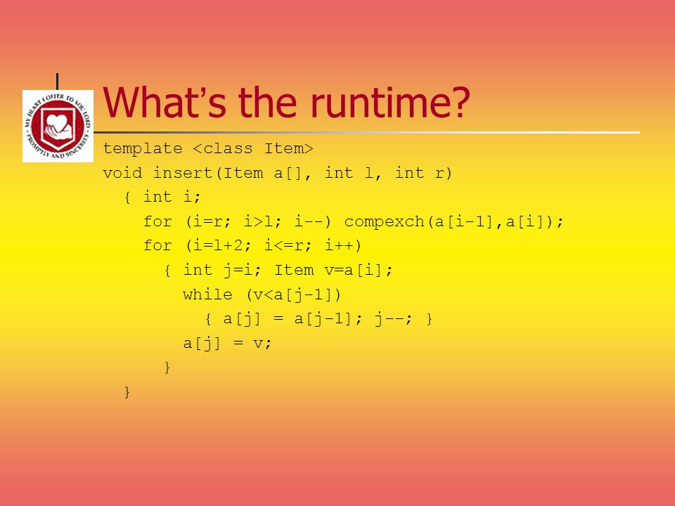 What's the runtime template <class Item>