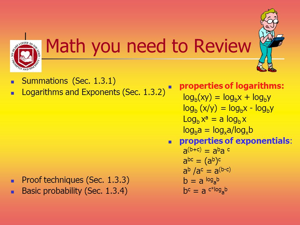 Math you need to Review Summations (Sec )
