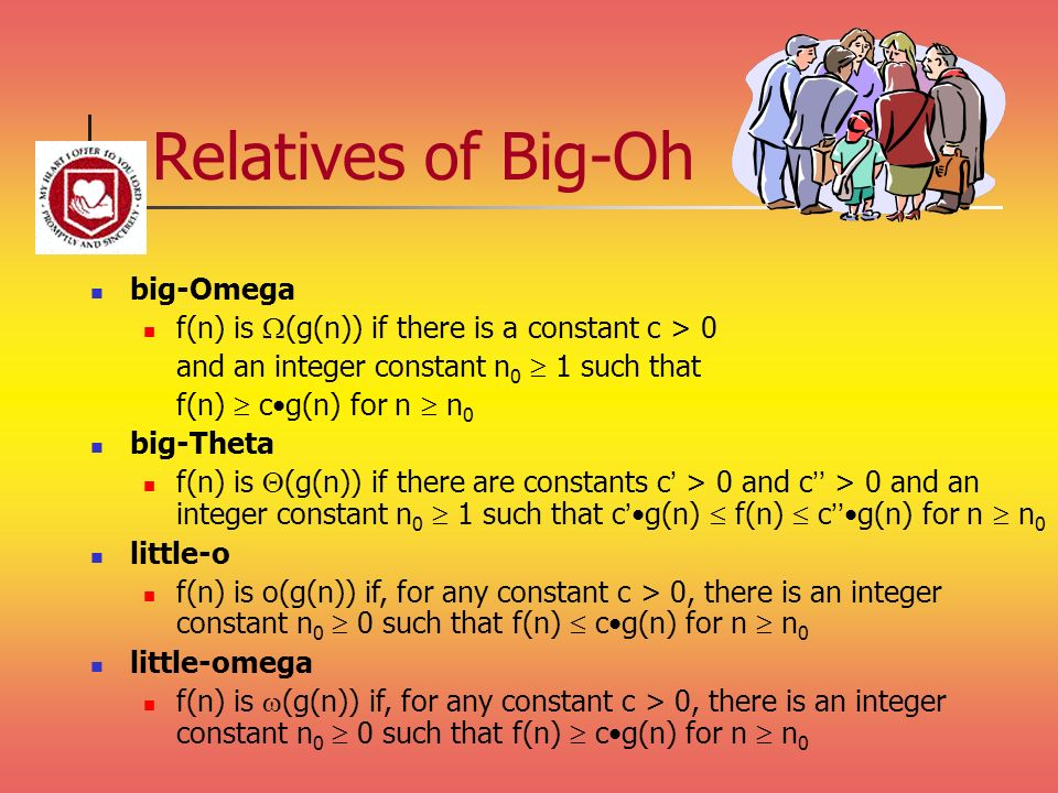 Relatives of Big-Oh big-Omega