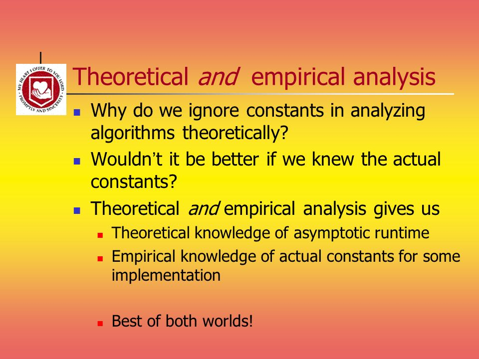 Theoretical and empirical analysis