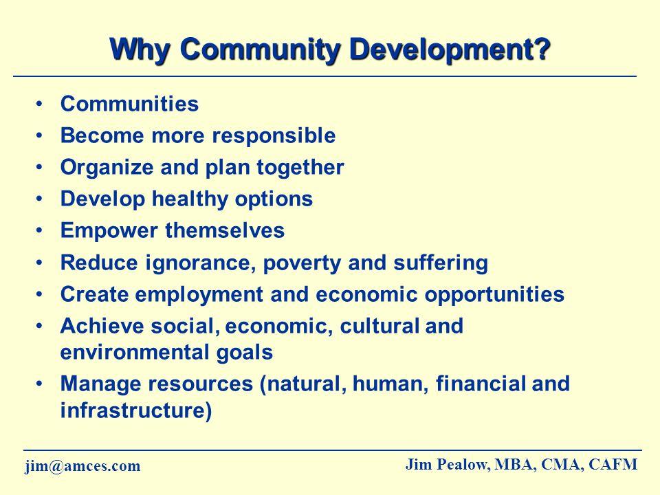 Why Community Development