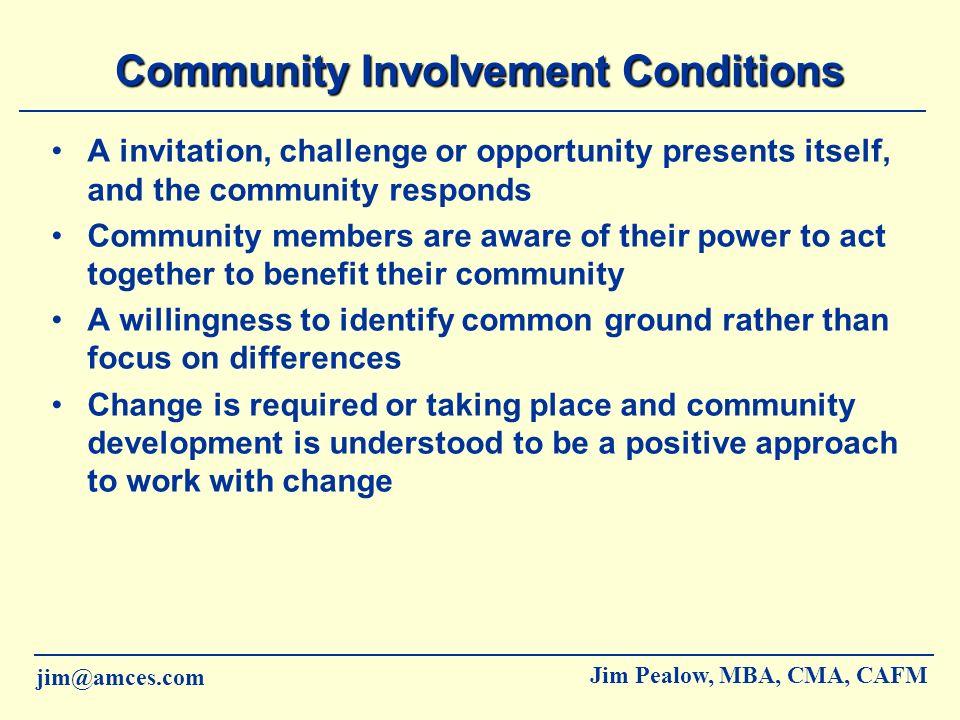 Community Involvement Conditions