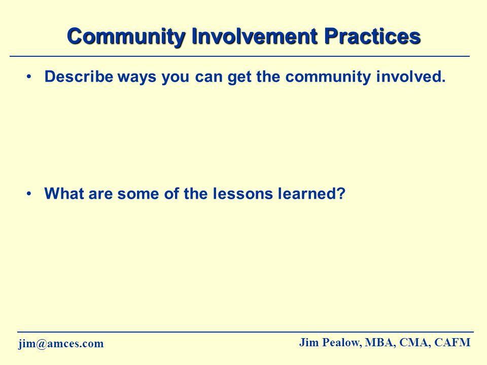 Community Involvement Practices