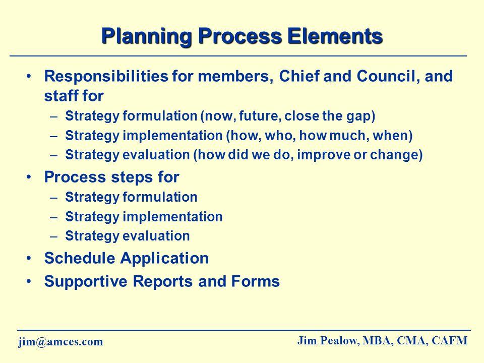 Planning Process Elements