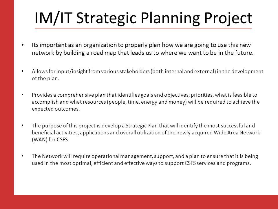 IM/IT Strategic Planning Project