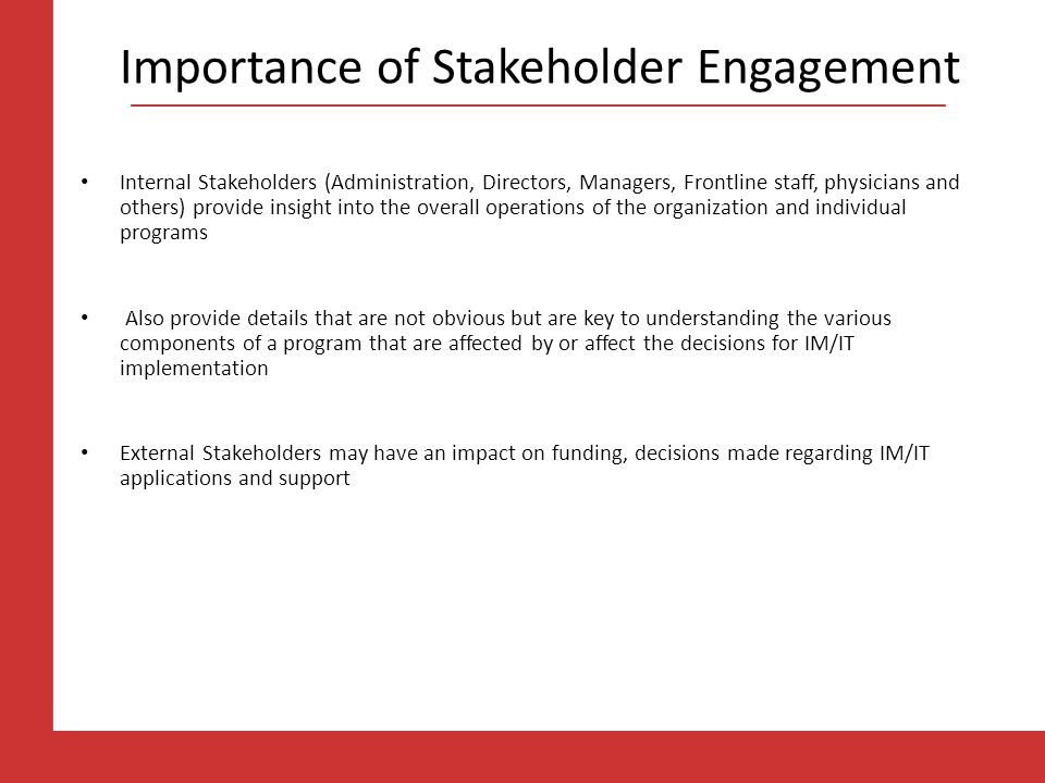 Importance of Stakeholder Engagement