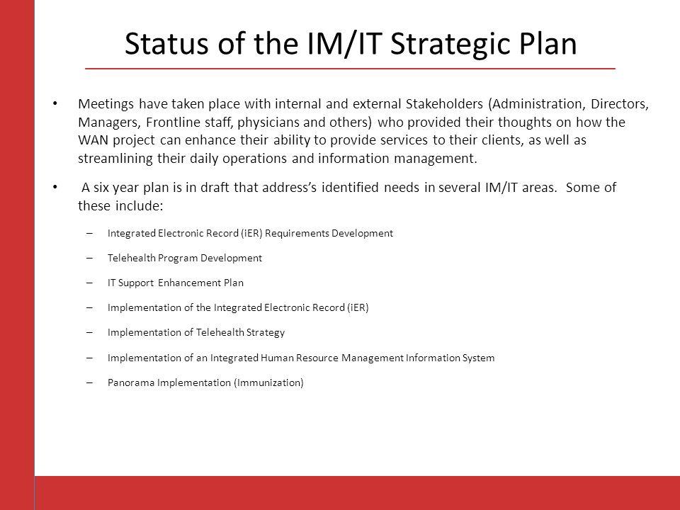 Status of the IM/IT Strategic Plan