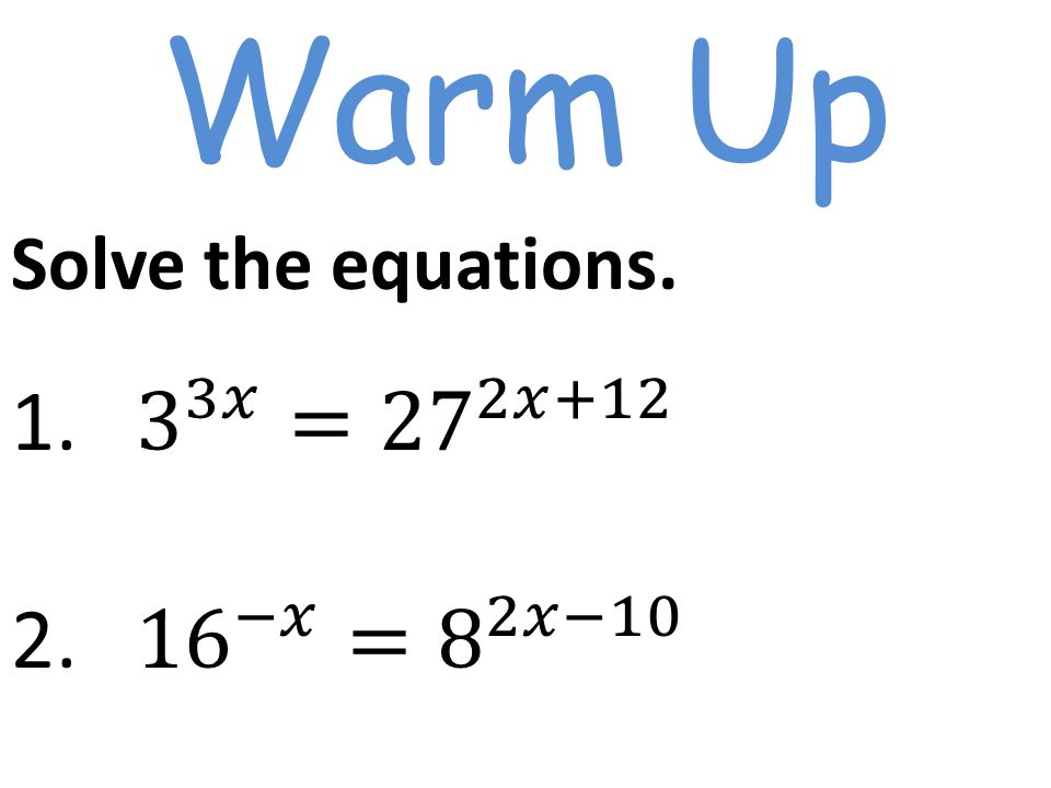 Solve the equations ppt video online download