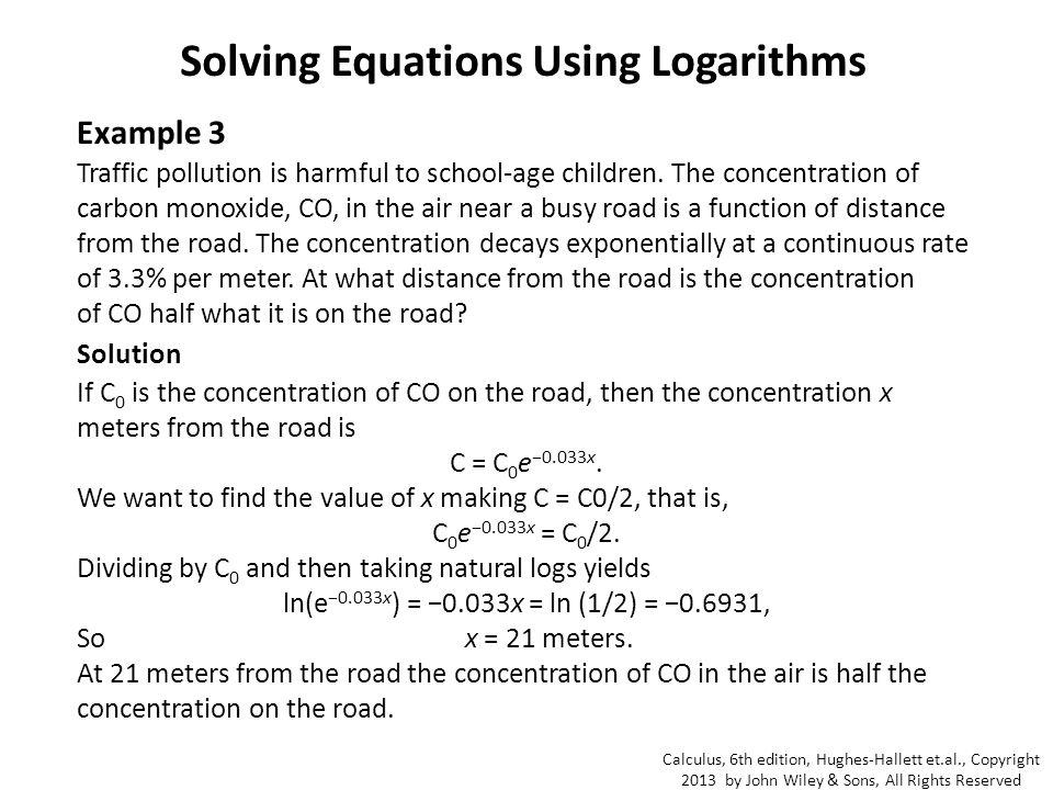 Solving Using Natural Logs