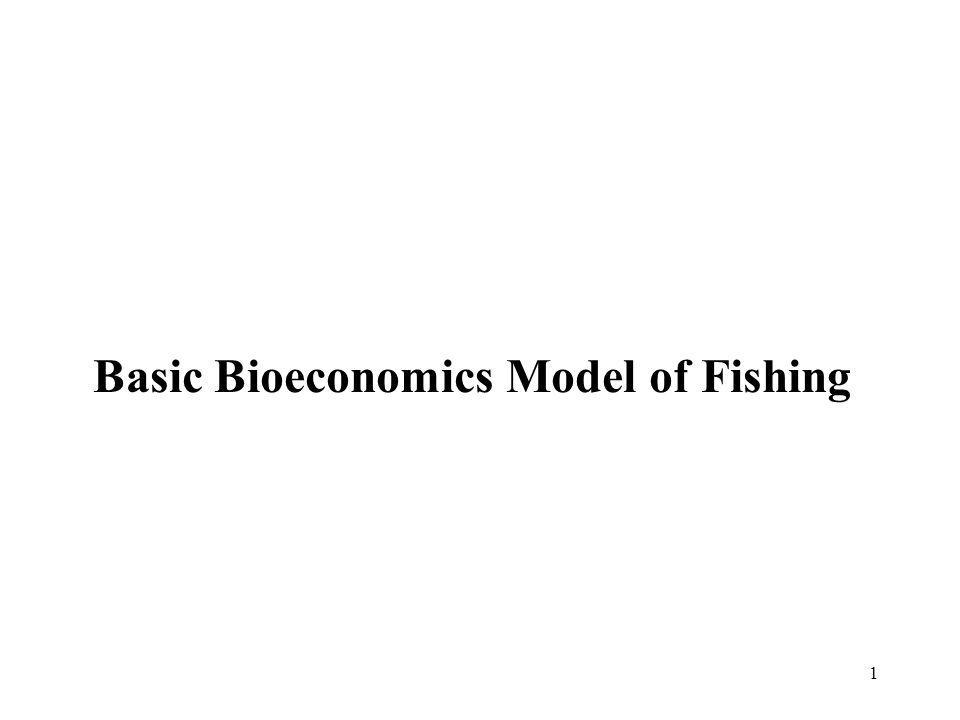 Basic Bioeconomics Model of Fishing