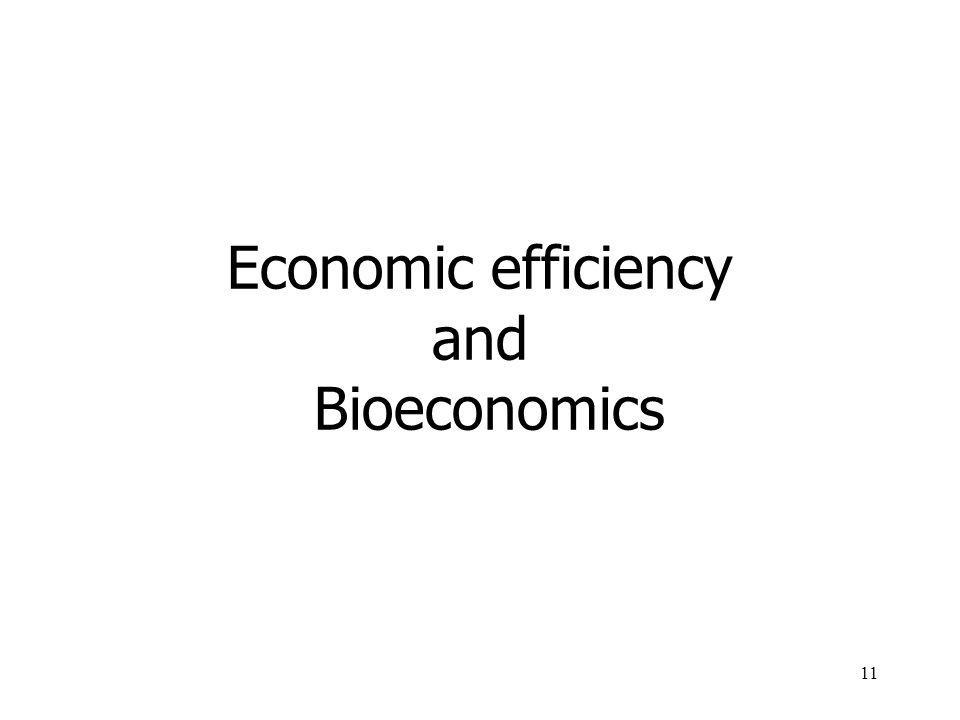Economic efficiency and Bioeconomics