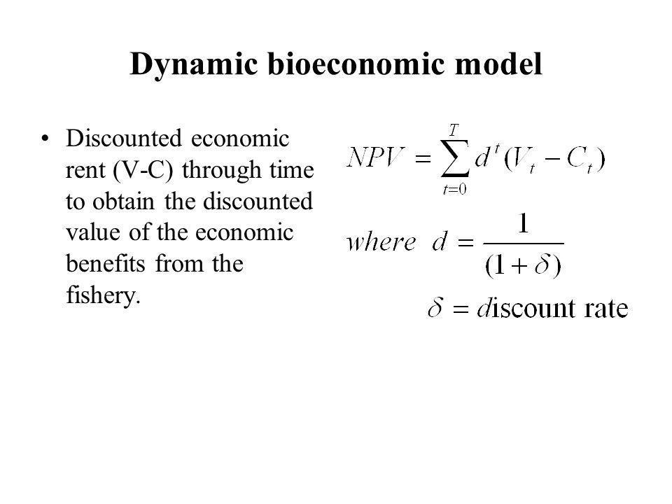 Dynamic bioeconomic model